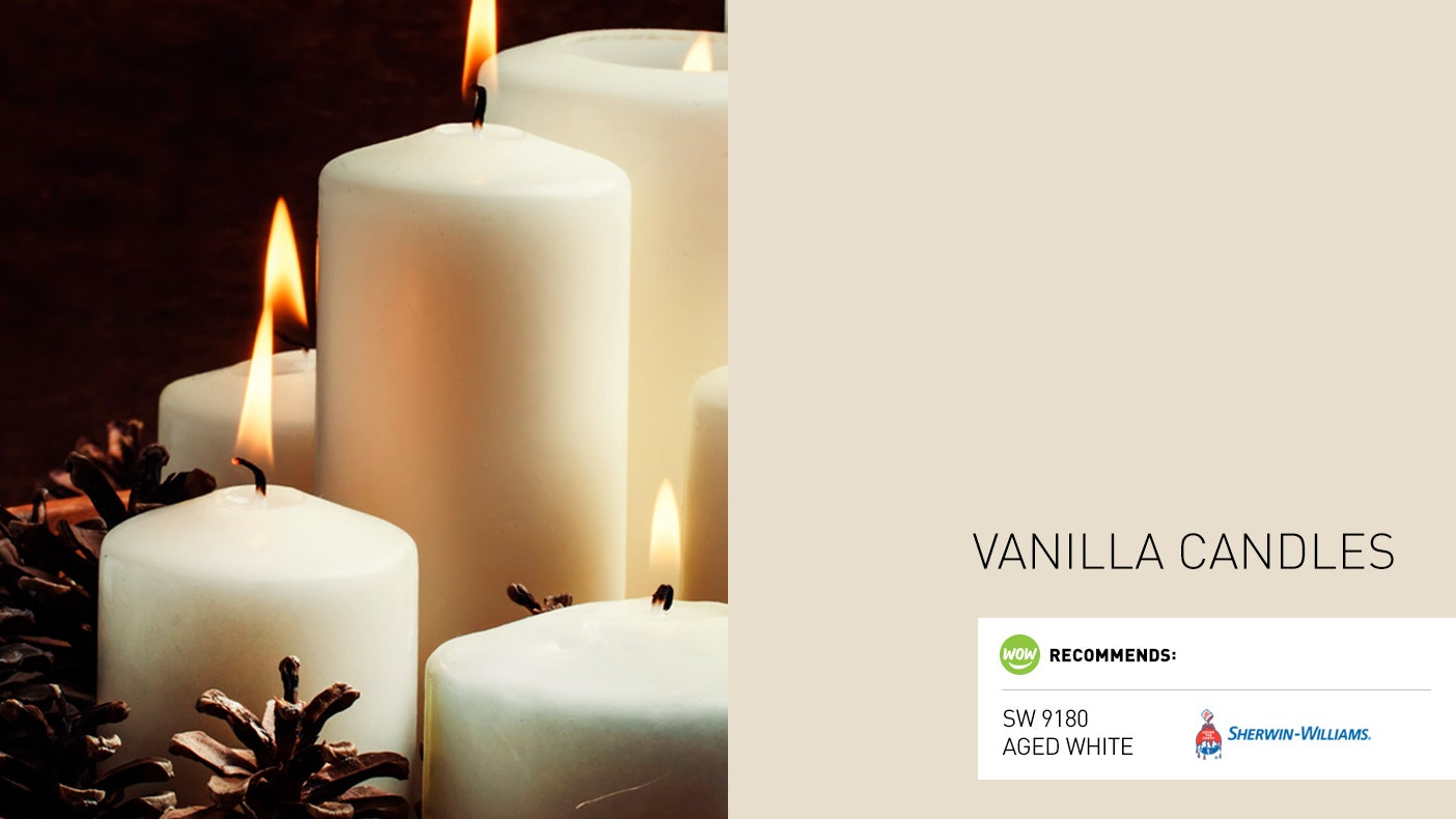 12 Colors of Christmas Day 10 Vanilla Candles