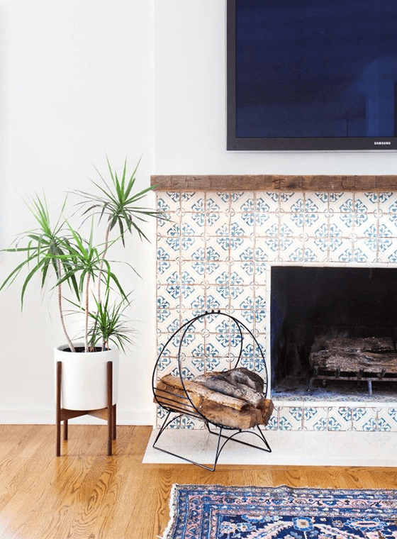 Spanish Tile Livingroom