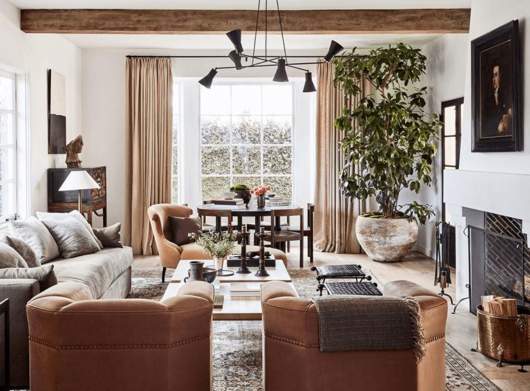 Spanish Style Rustic Livingroom