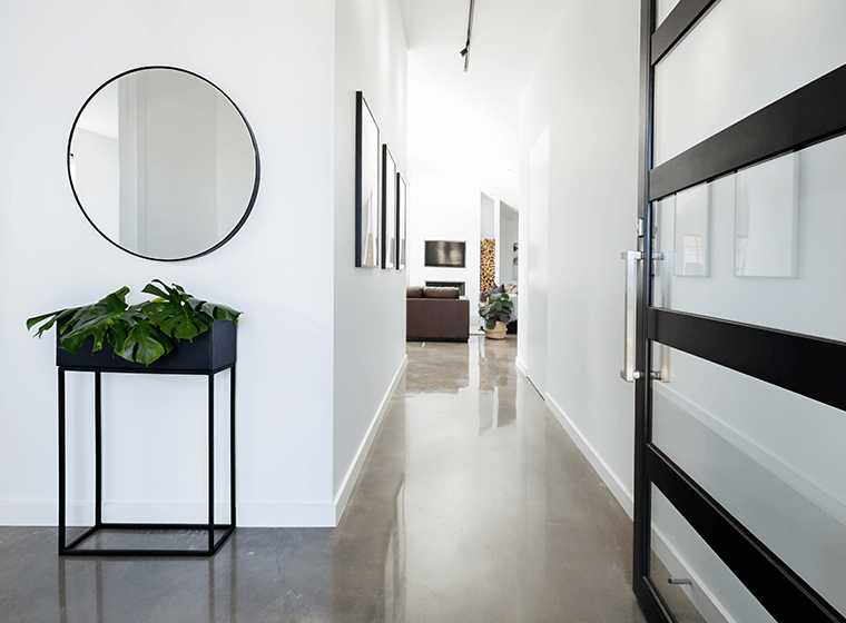 White Modern Entry Way