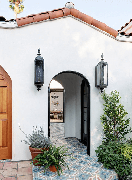 Spanish Revival Style Door Entrance