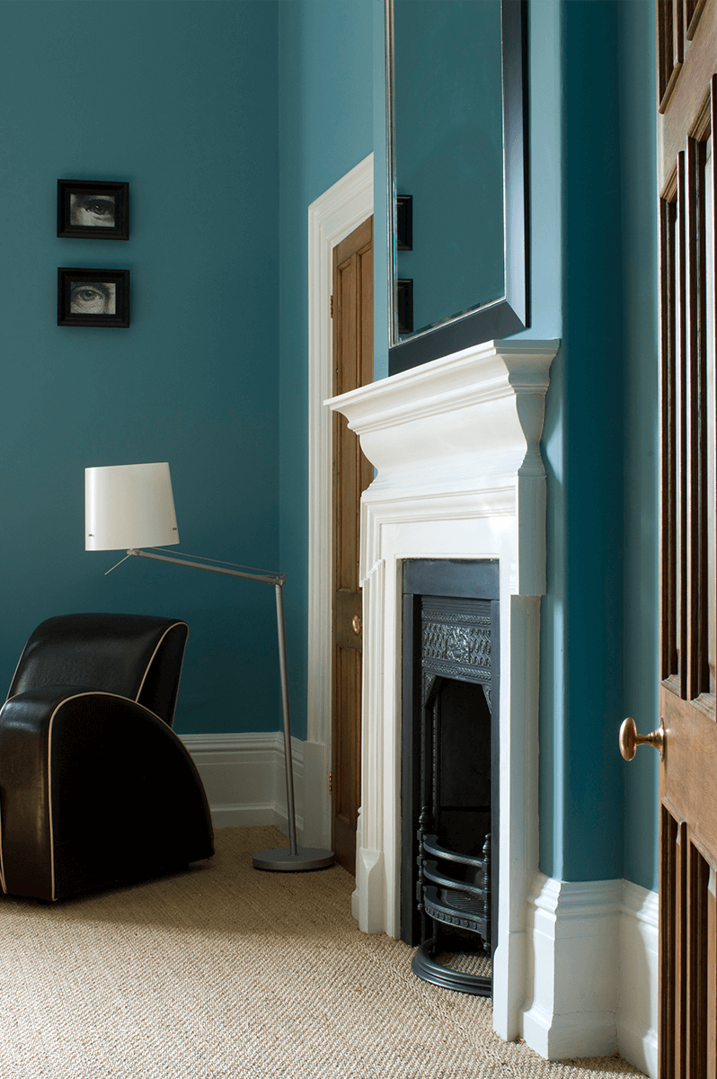 Blue Eggshell Finish Wall