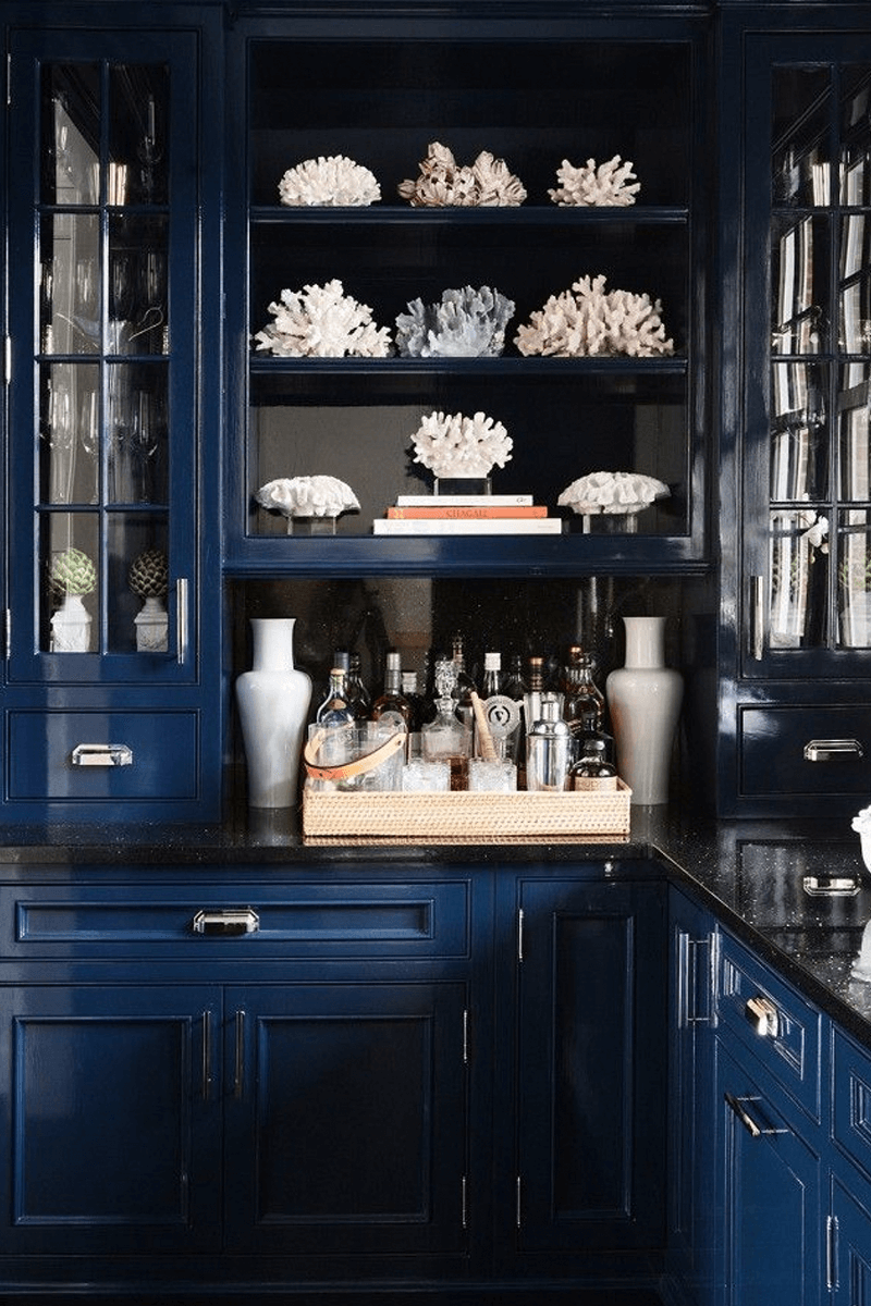 Blue High-glass Finish Kitchen