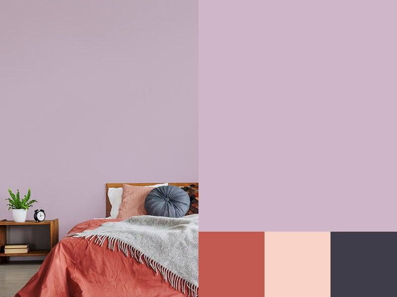 """""""Bedroom painted Amethyst with accent color swatch"""""""