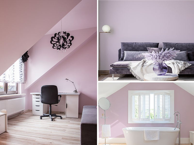 """""""Office, living room, and bathroom painted Amethyst"""""""
