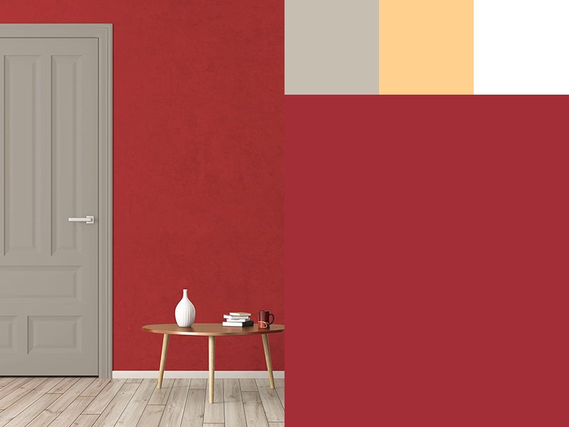 """""""Garnet painted room, with color swatch"""""""