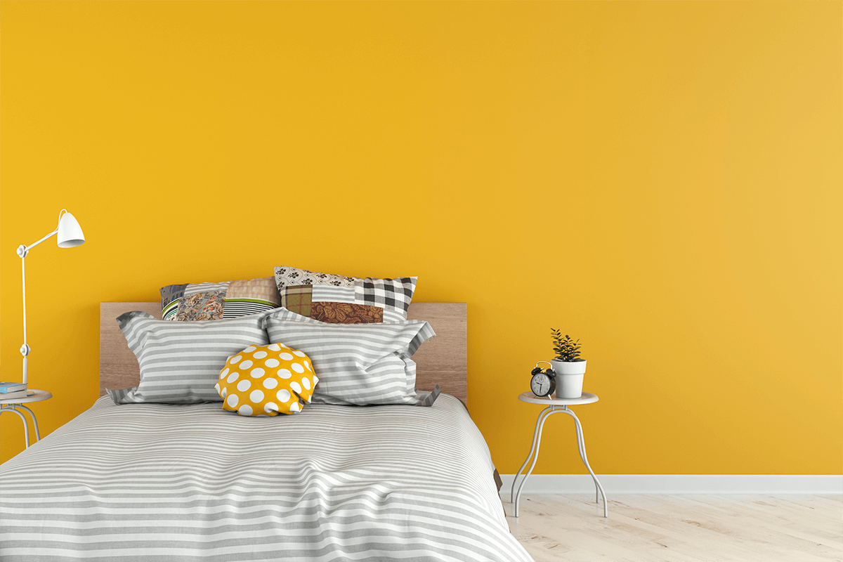Yellow Bedroom Wall