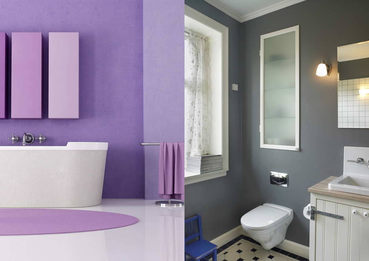 Purple and Gray House Paint Inspiration
