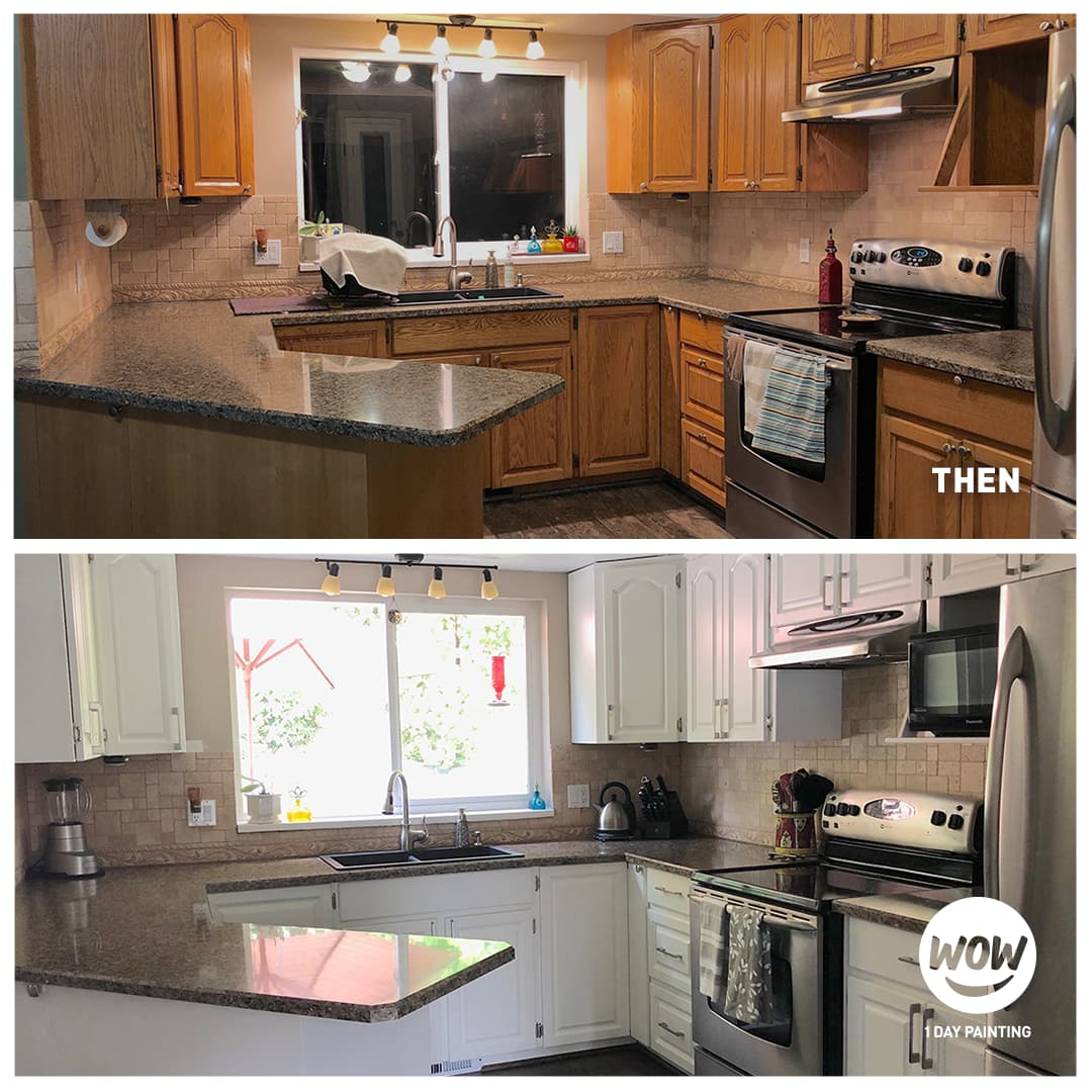 Kitchen Cabinet Painting Transformation