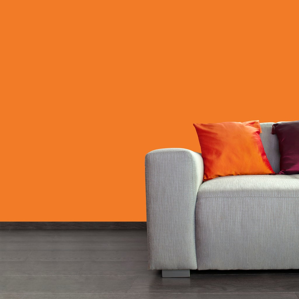 Orange Accent Wall