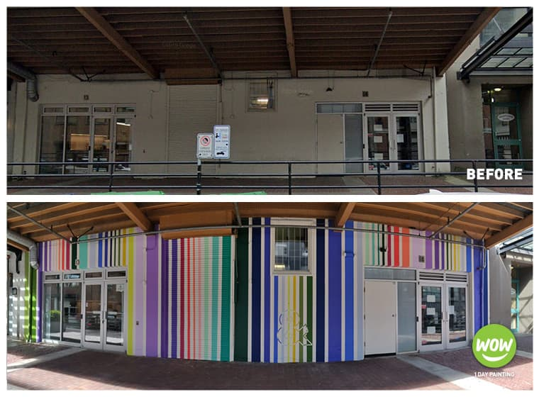 Colorful Exterior Painting for Commercial Building