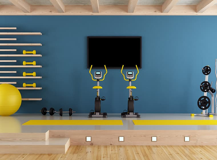 Blue Home Gym