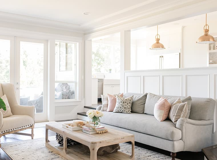 White Living Room with Natural Lighting