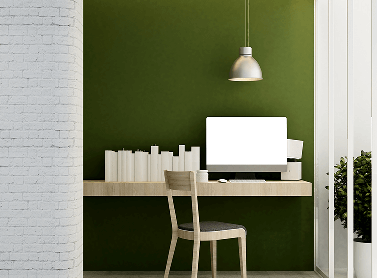 Olive Green Accent Wall