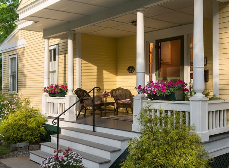 Beautifully Painted Front Porch