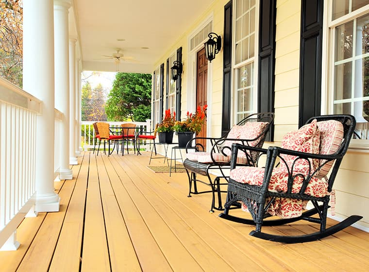 White Front Porch Columns