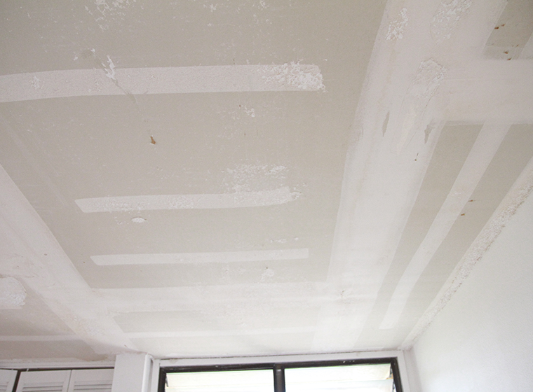 Paint over popcorn ceiling