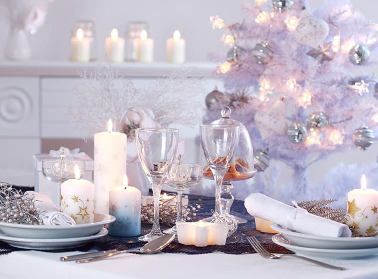 Holiday Silver Decor