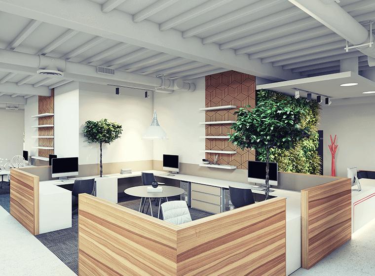 Warm White Office