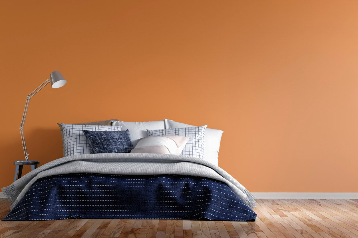 Bright Orange Color Room