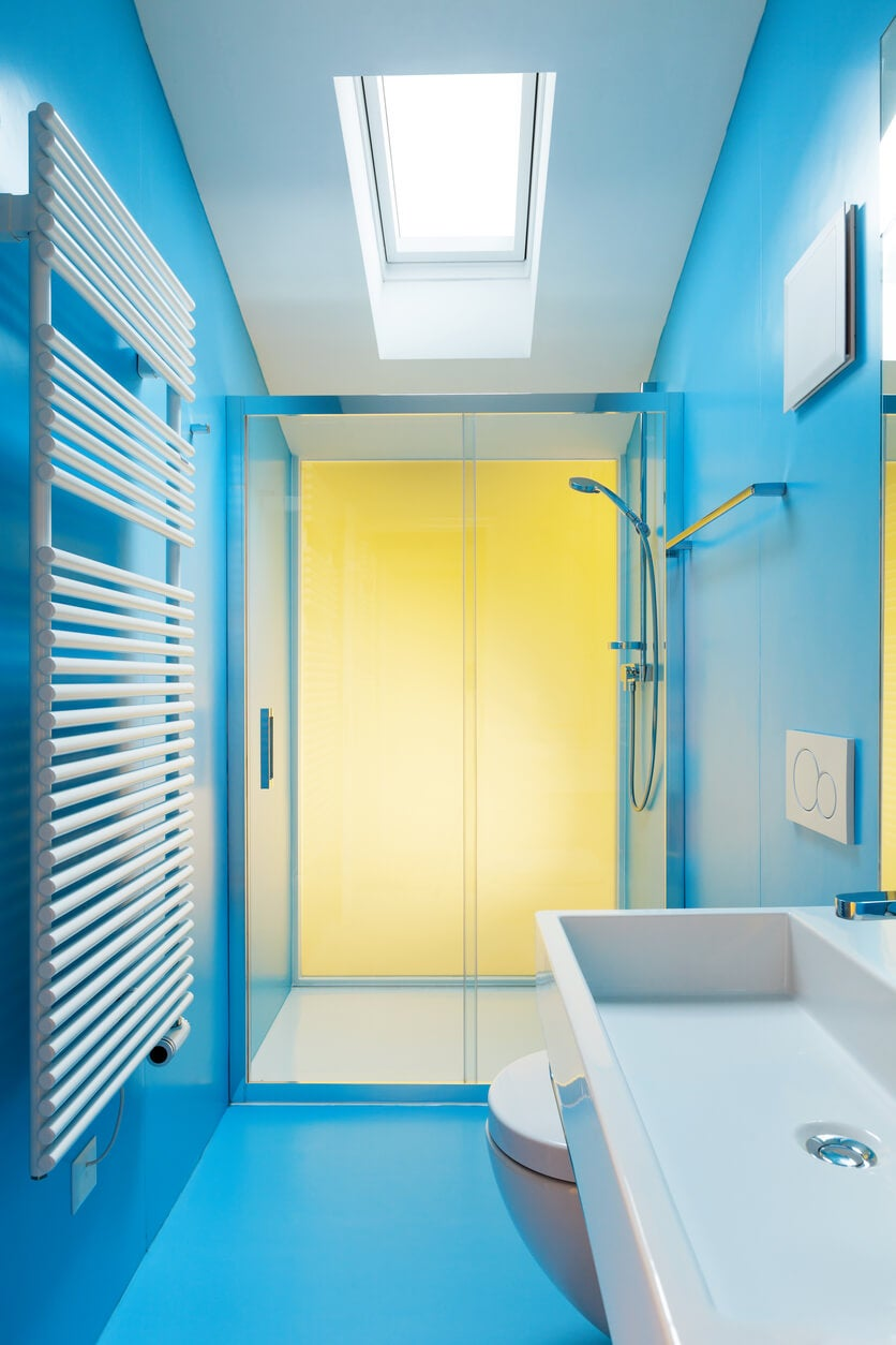 cerulean blue bathroom color
