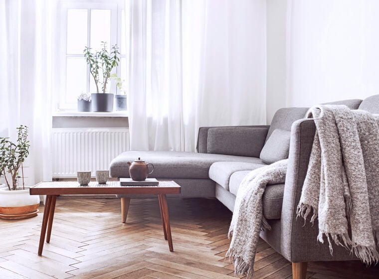 Hygge Style Minimalistic Living Room
