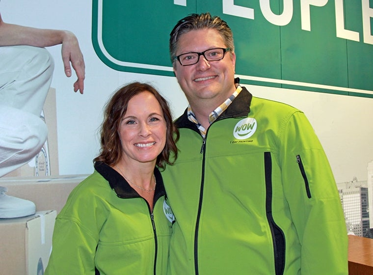 WOW 1 DAY PAINTING Franchise Partners Marc and Jill Sieber, St. Paul, Minnesota