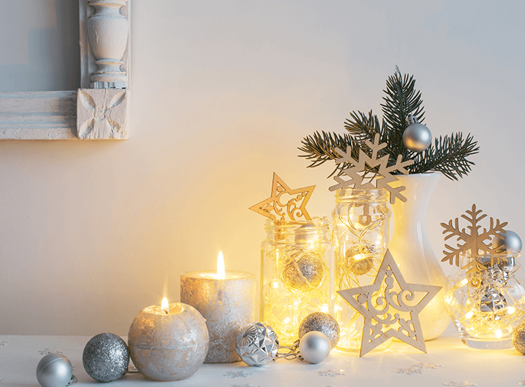 Silver Holiday Decorations
