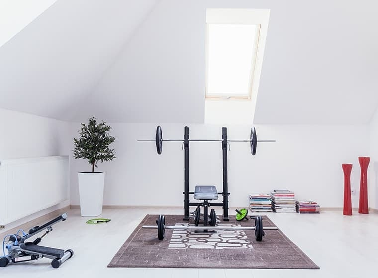 White Modern Home Gym