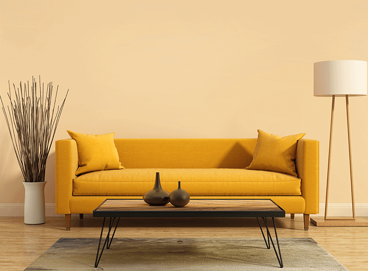 """""""Yellow Modern Couch"""""""