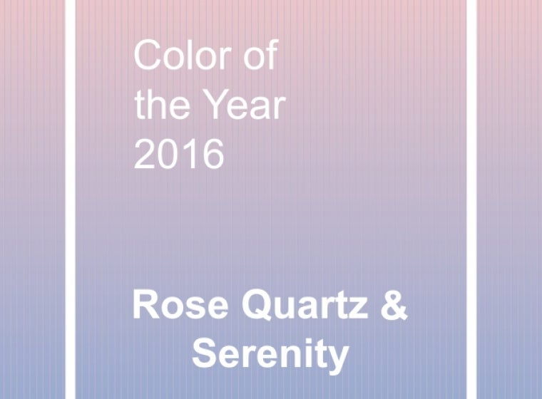16bd2ffb95 Pantone colors of the year  Rose Quartz and Serenity