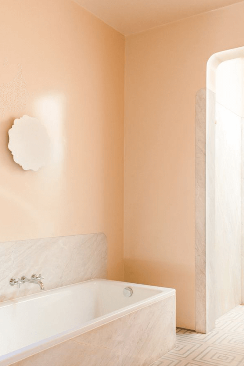 Peach Colored Bathroom