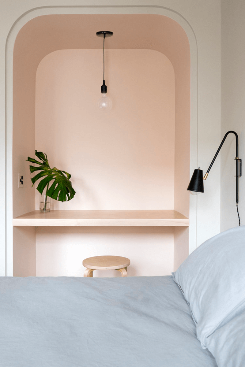 Peach Colored Bedroom