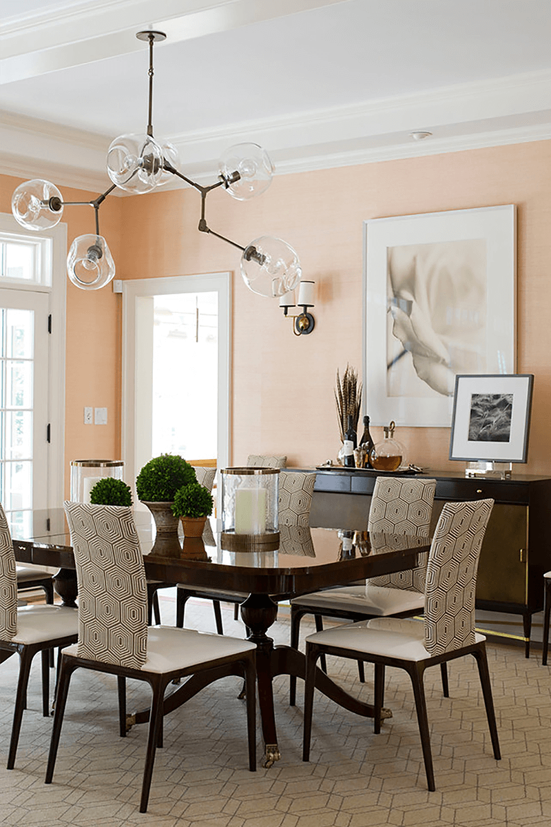 Peach Colored Dining Room