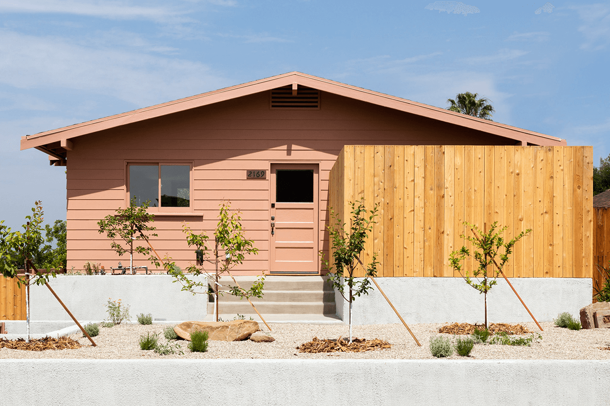 Peach Colored Exterior House