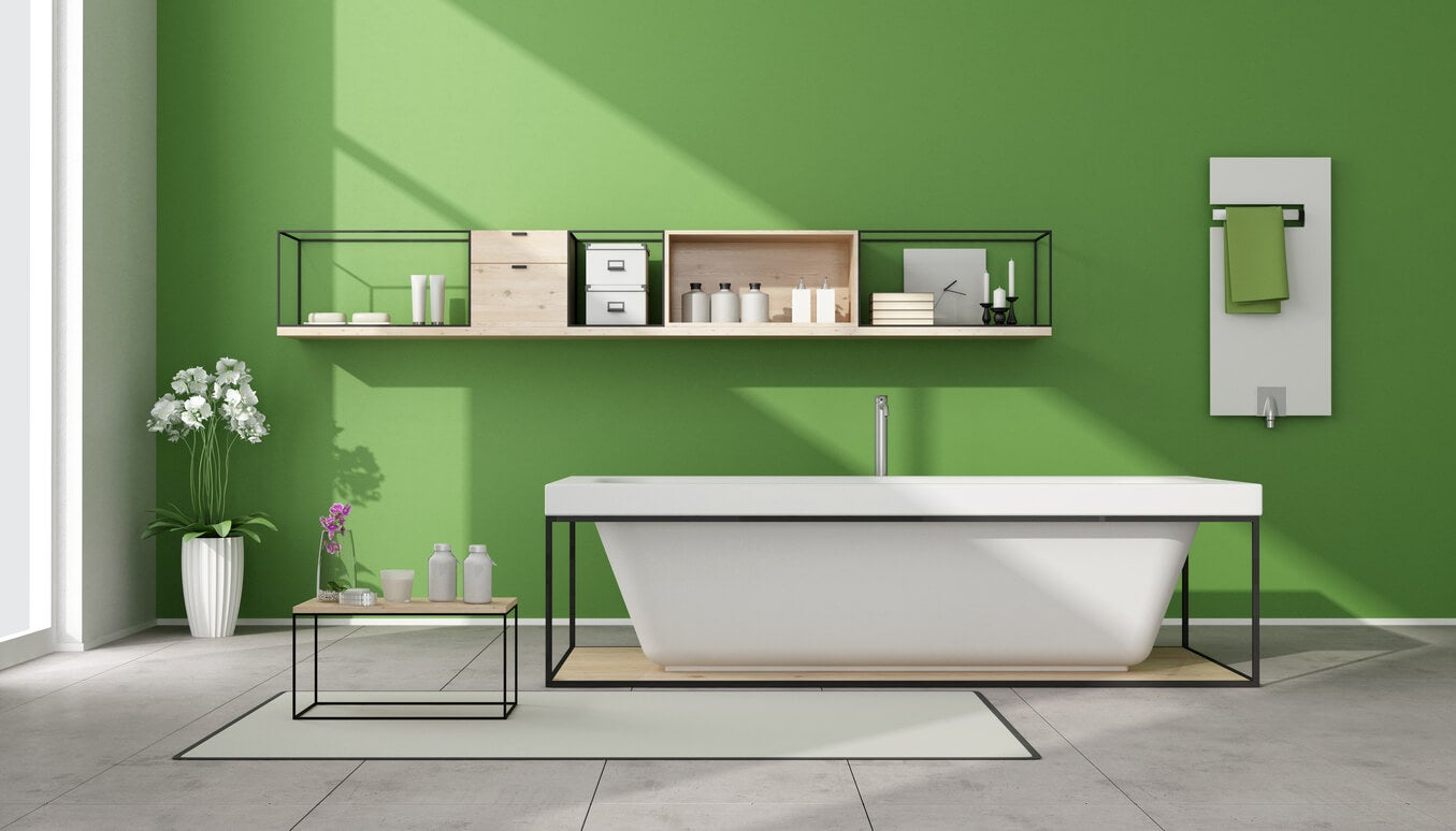 pistachio bathroom color