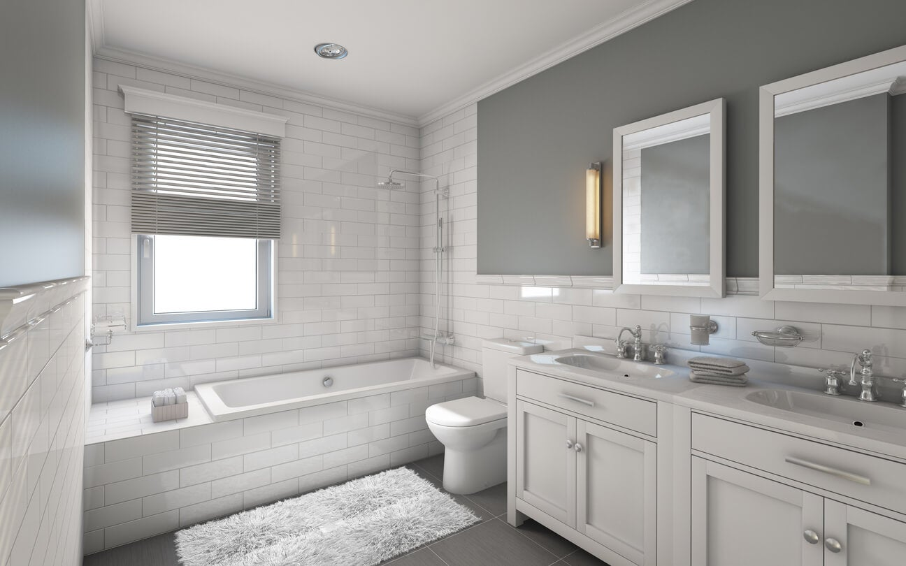 delightful Gray Bathroom Colors Part - 11: soft gray bathroom color