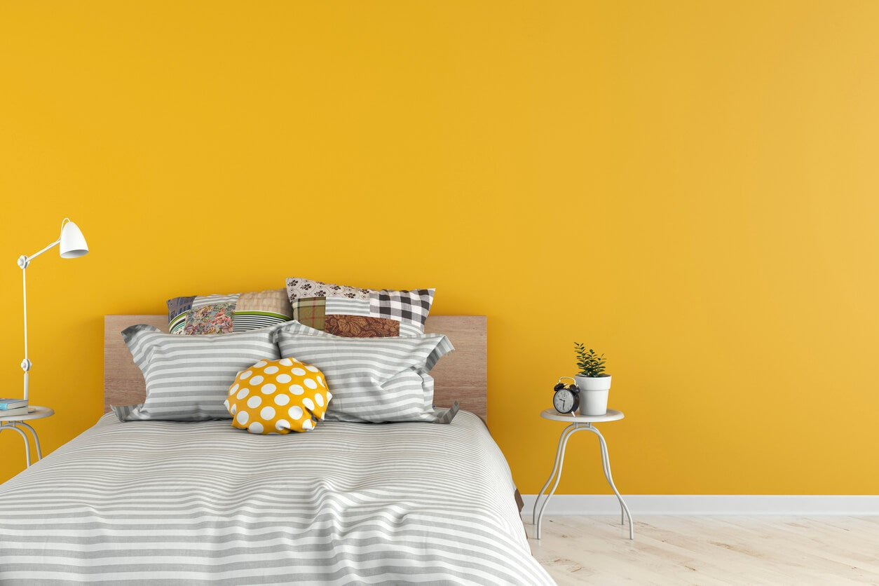 Sunny Yellow Color Room