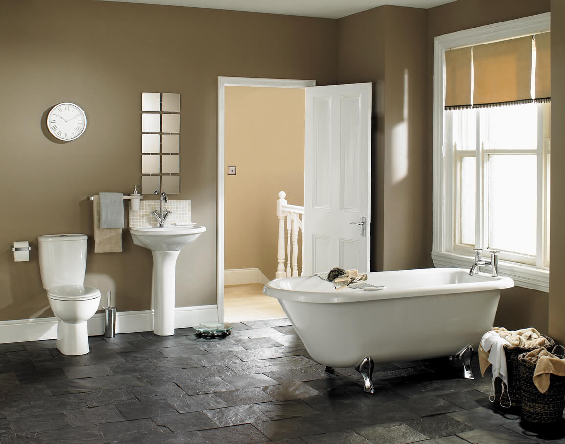 taupe bathroom color